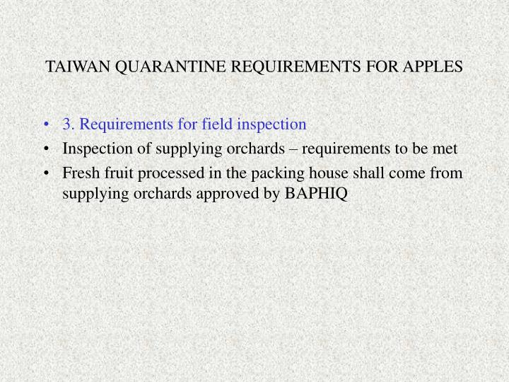 Taiwan quarantine requirements for apples1