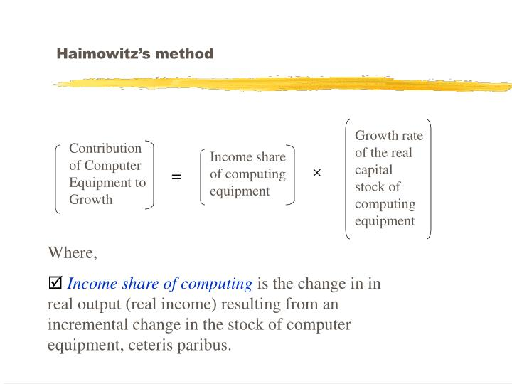 Haimowitz's method