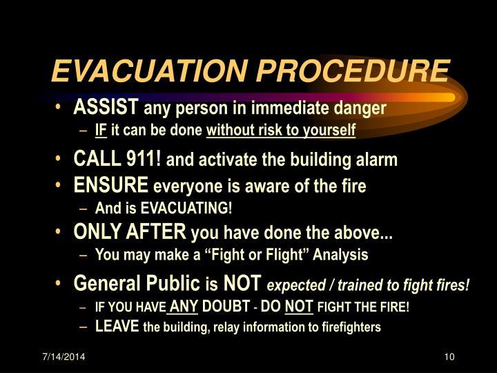 EVACUATION PROCEDURE