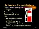 extinguisher common features