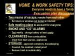 home work safety tips everyone needs to have a family evacuation plan discussion