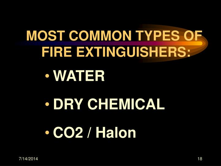 MOST COMMON TYPES OF