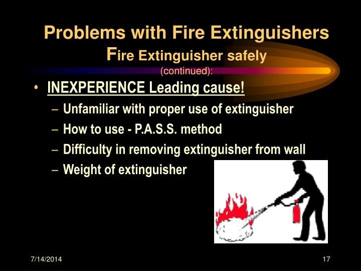 Problems with Fire Extinguishers