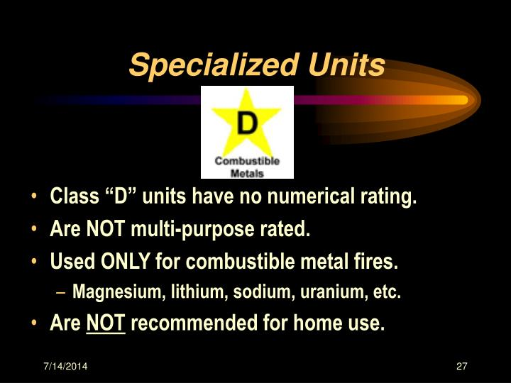 Specialized Units