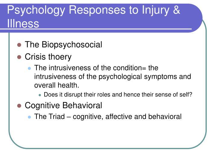 Psychology Responses to Injury & Illness