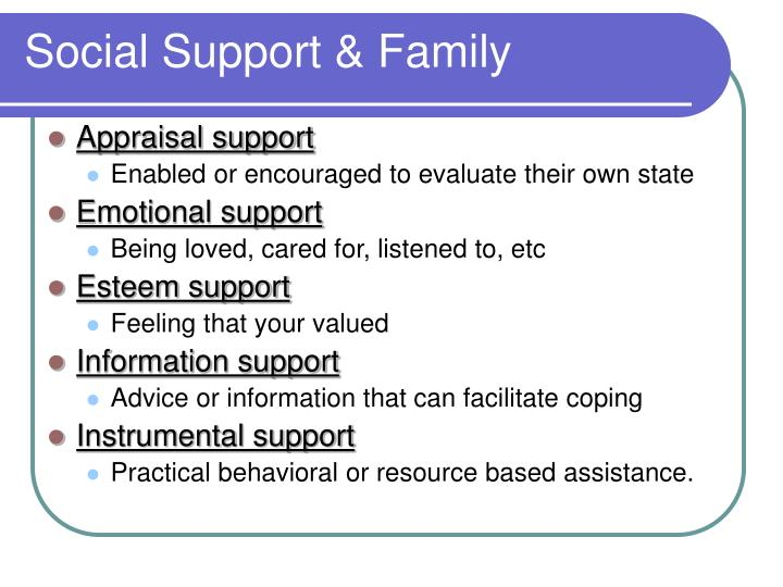 Social Support & Family