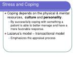 stress and coping