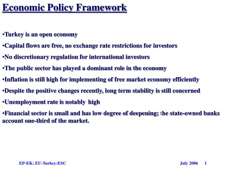 Economic Policy Framework