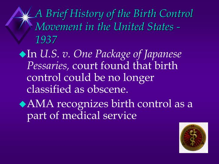 A Brief History of the Birth Control Movement in the United States -1937