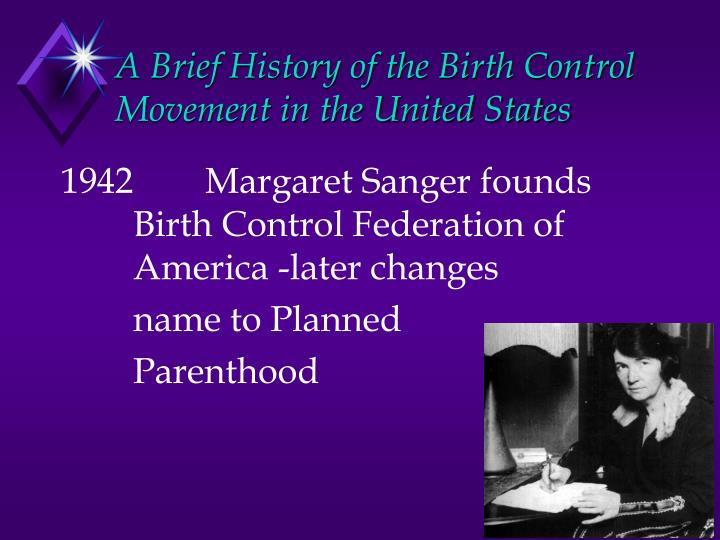 A Brief History of the Birth Control Movement in the United States