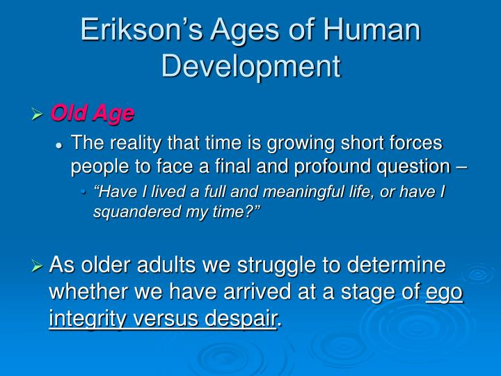 Erikson's Ages of Human Development