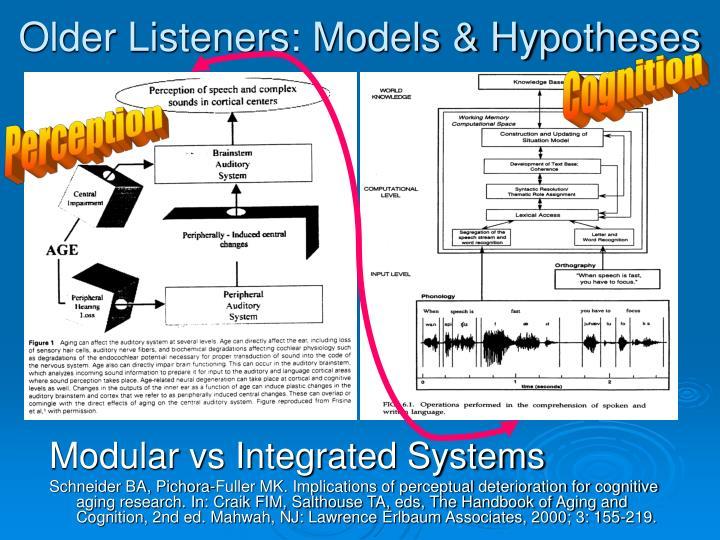 Older Listeners: Models & Hypotheses