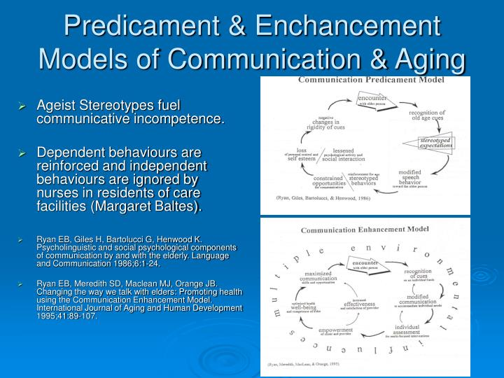 Predicament & Enchancement Models of Communication & Aging