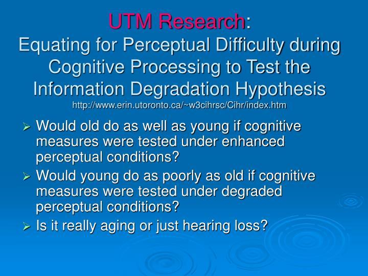 UTM Research