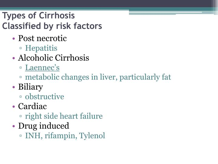 Types of Cirrhosis