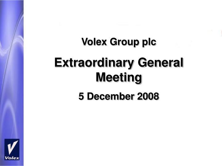 Volex Group plc