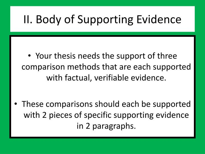 essay supporting evidence Any good research paper must have an argument, and any good essay must support its argument with evidence.