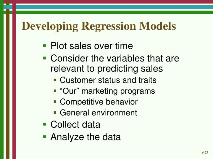 Developing Regression Models
