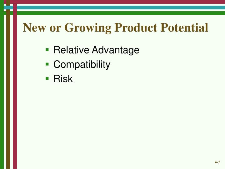 New or Growing Product Potential