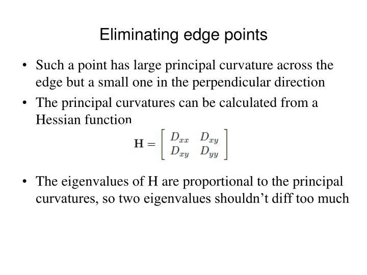 Eliminating edge points