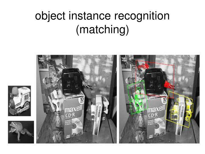 Object instance recognition matching