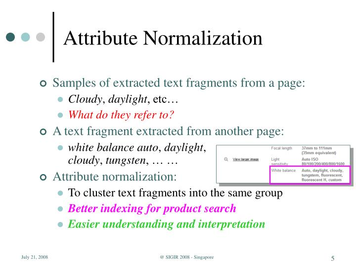 Attribute Normalization