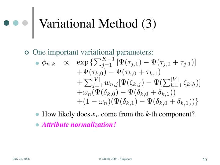 Variational Method (3)