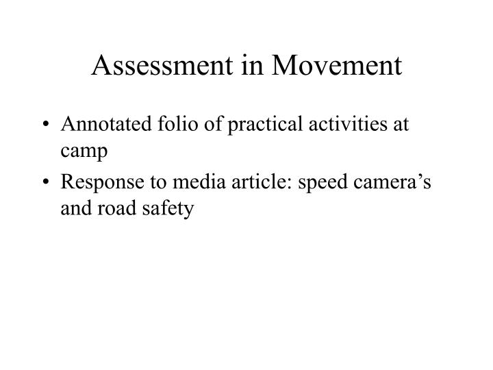 Assessment in Movement