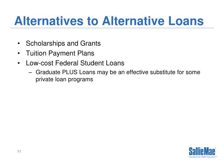 Alternatives to Alternative Loans