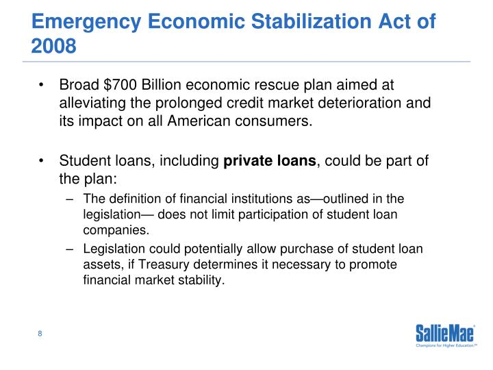 Emergency Economic Stabilization Act of 2008