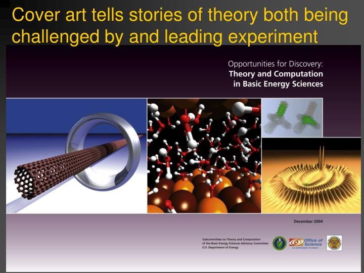 Cover art tells stories of theory both being challenged by and leading experiment