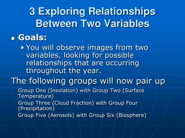 3 Exploring Relationships Between Two Variables
