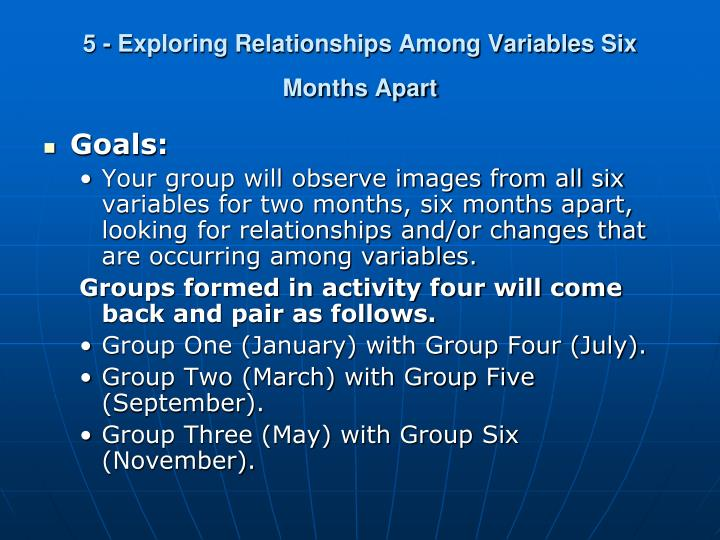 5 - Exploring Relationships Among Variables Six