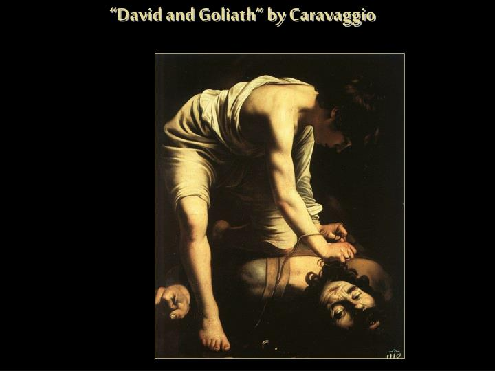 """David and Goliath"" by Caravaggio"
