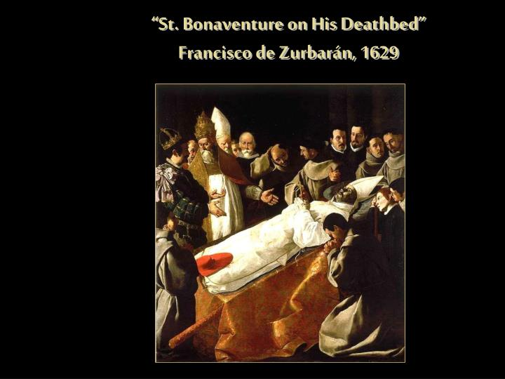 """St. Bonaventure on His Deathbed"""