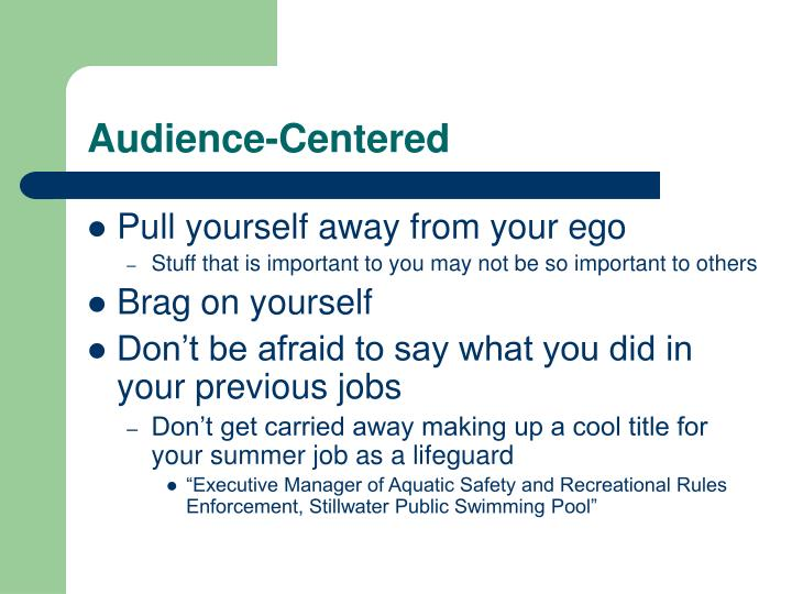 Audience-Centered