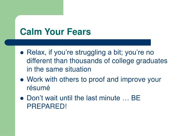 Calm Your Fears