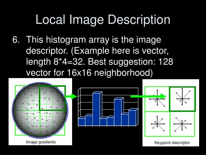 Local Image Description