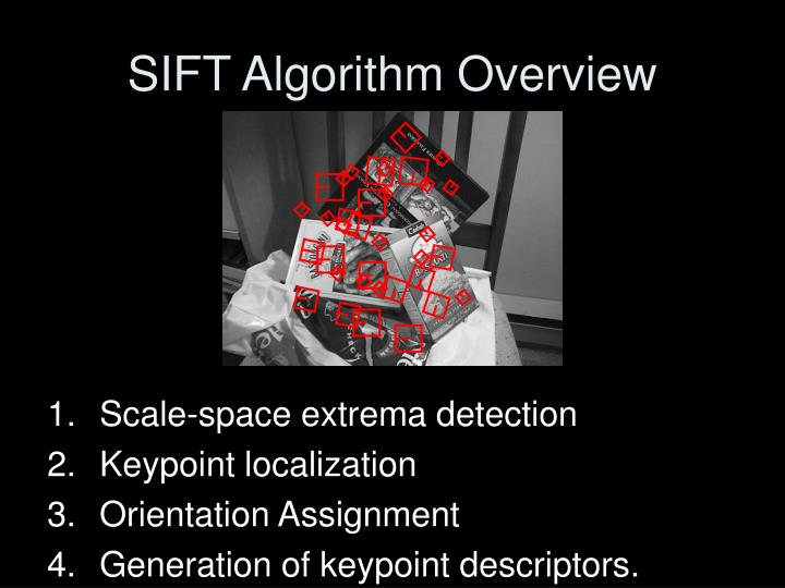 SIFT Algorithm Overview