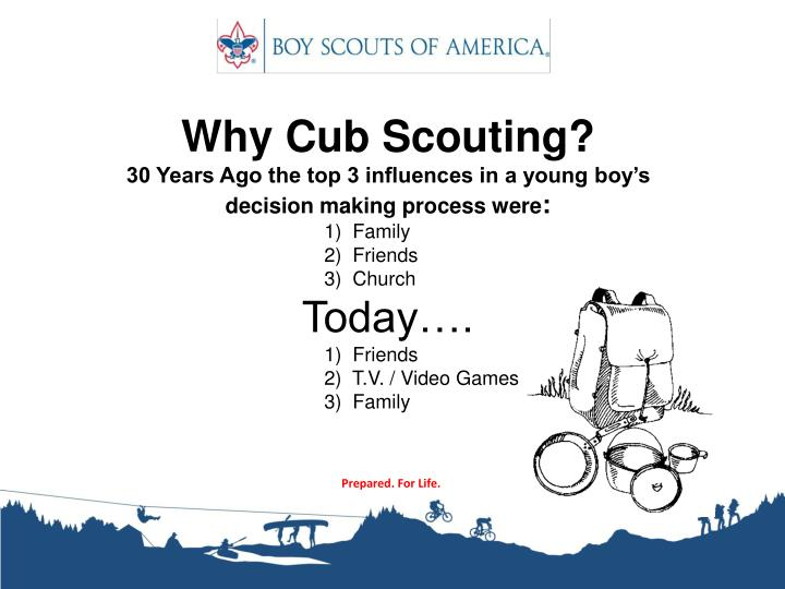 Why Cub Scouting?
