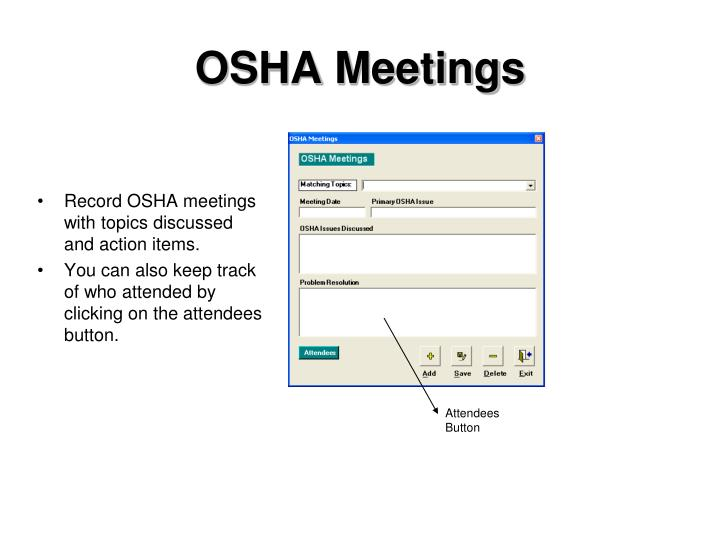OSHA Meetings