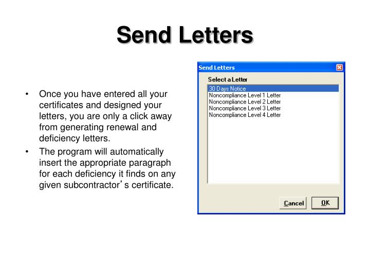 Send Letters