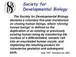society for developmental biology