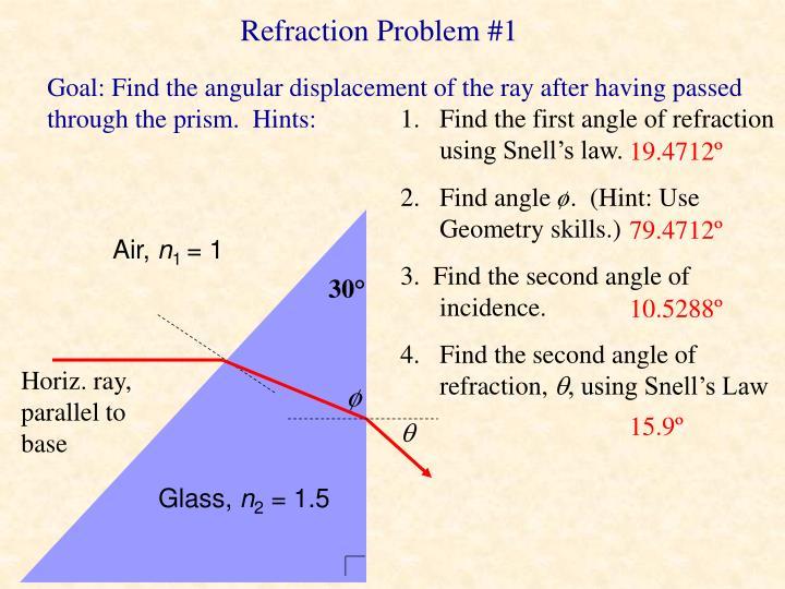 Refraction Problem #1
