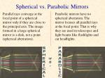 spherical vs parabolic mirrors