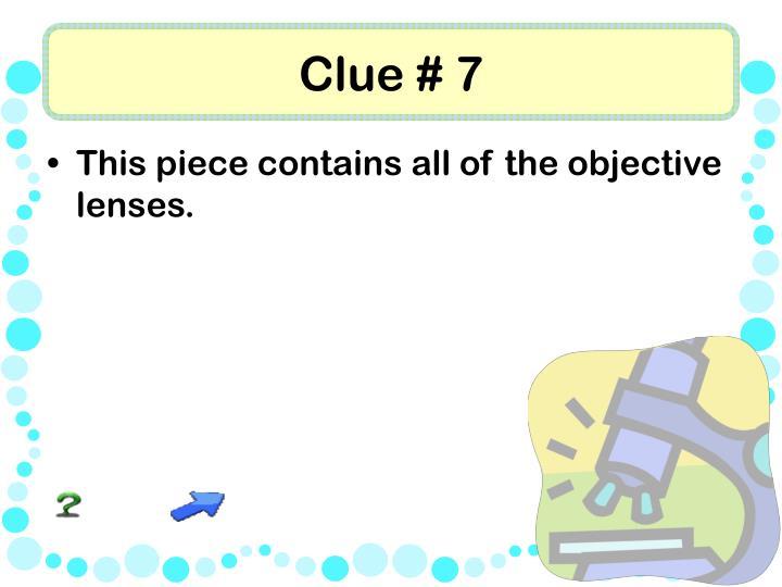 Clue # 7