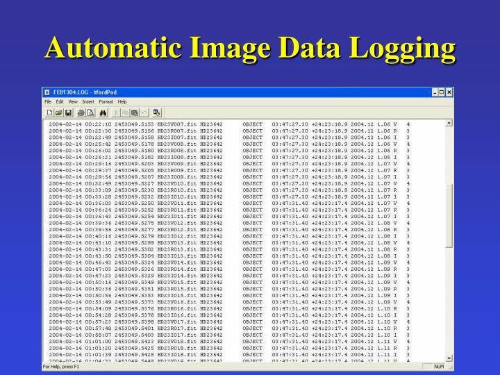 Automatic Image Data Logging