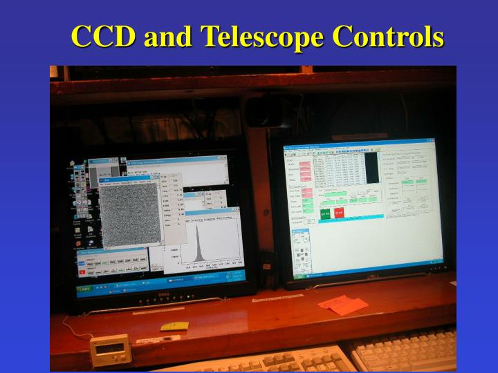 CCD and Telescope Controls