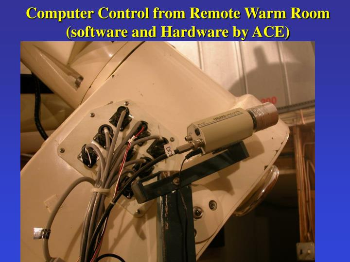 Computer Control from Remote Warm Room