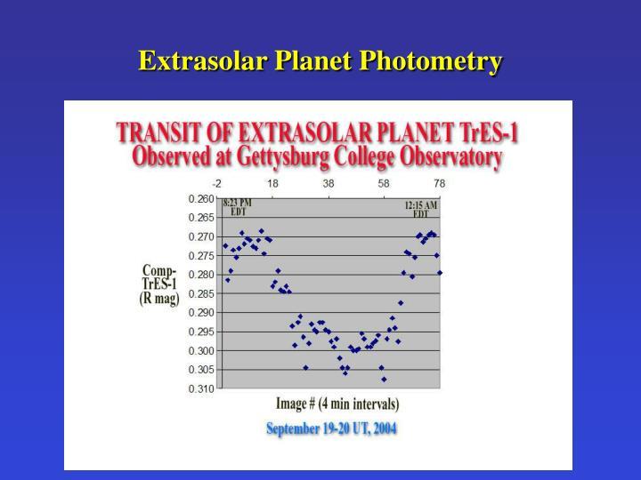 Extrasolar Planet Photometry